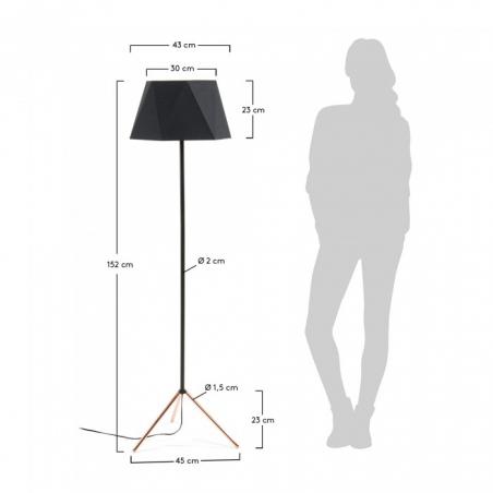 NELI FLOOR COPPER lampa