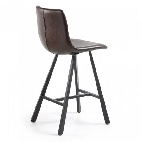 NENCY 60 BAR stolička tmavohnedá