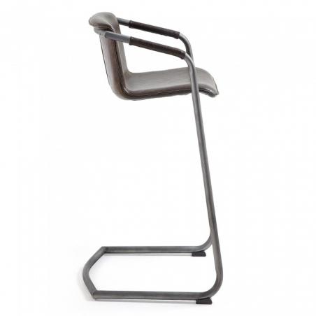 SKRU 81 BAR stolička tmavohnedá