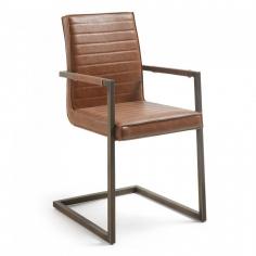 REBRO ARM stolička svetlohnedá