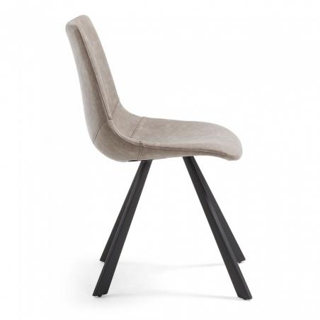 MENDY stolička tmavosivá