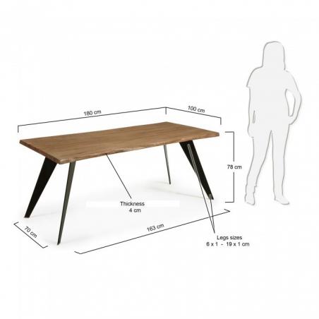 DIAGON B ANTIK OAK stôl 180