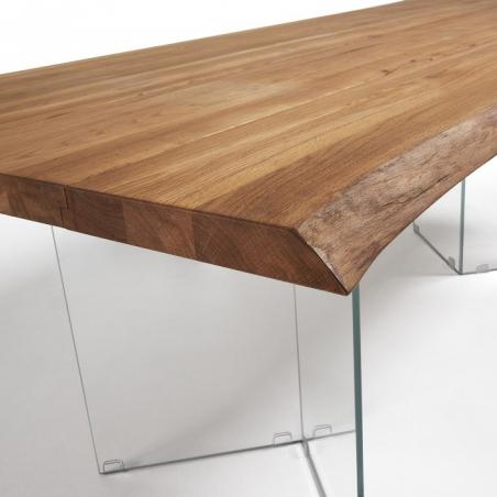 TEVIR GLASS OAK stôl