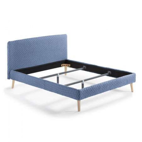 BELLA 160x200 modrá posteľ