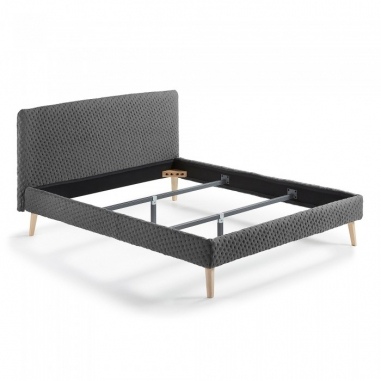 BELLA 160x200  sivá posteľ