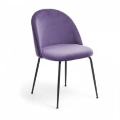 IVONNA ZAMAT BLACK čalúnená stolička