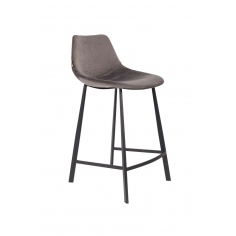 DUTCHBONE COUNTER STOOL FRANKY VELVET