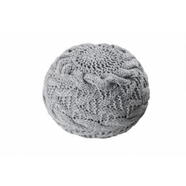 PUF pletený sivý