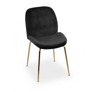 JOE zamatová stolička zlatá