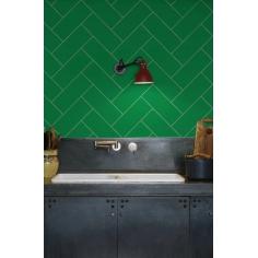 HERRINGBONE žltá kuchynská zástena