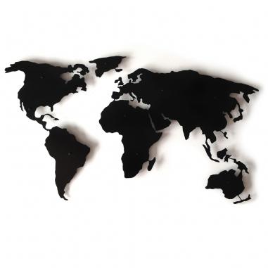 World Map 3d Dekoracia Z Kovu Kovova Mapa Sveta