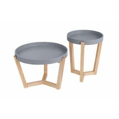 LINDRE GREY set 2 stolíkov