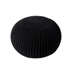 PUF pletený black