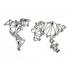 WORLD MAP 2 dekorácia