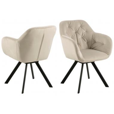 LOLA BLACK otočná stolička