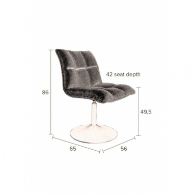 CHAIR MINI BAR DARK GREY