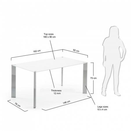 KORNY CHROM stôl