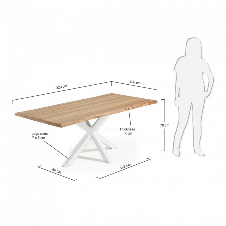 RONY WHITE WOOD stôl