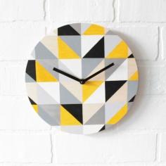 Žltá geometria - hodiny