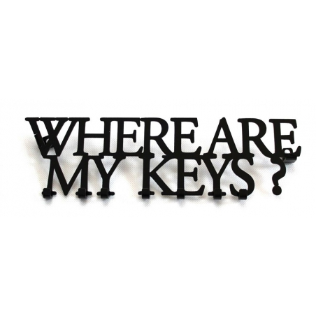 WHERE ARE MY KEYS vešiak