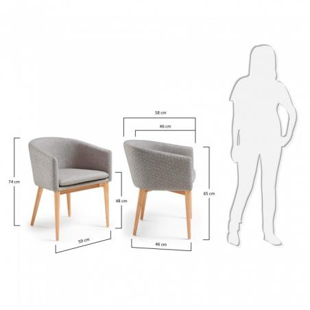 HAMON LIGHT GREY stolička