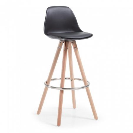 LARCHE stolička čierna