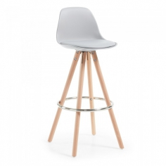 LARCHE stolička sivá