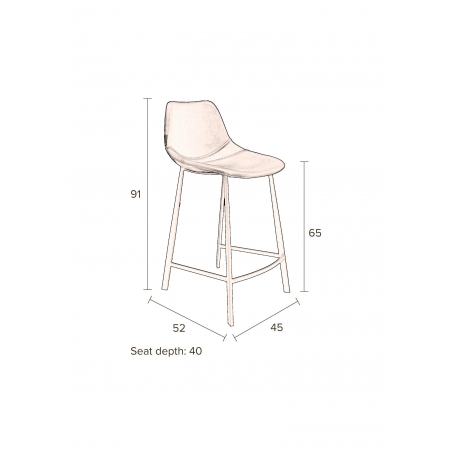 DUTCHBONE COUNTER STOOL FRANKY