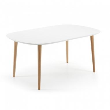 OAKY 160 WHITE rozťahovací stôl