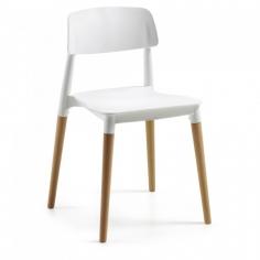 LAYER stolička - biela