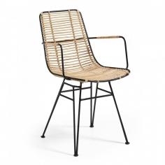 RATTANTO stolička čierna