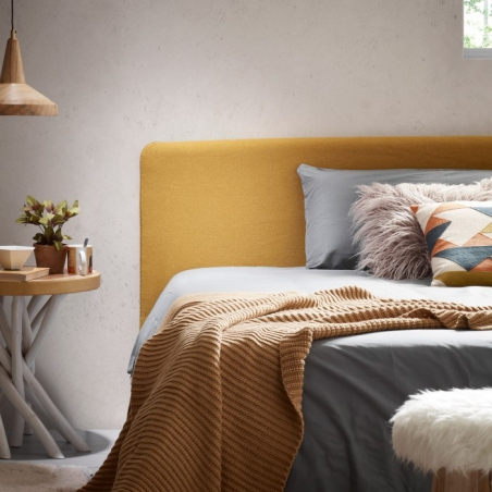 BELLA 90 posteľ horčicová