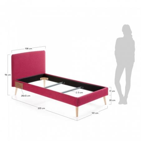BELLA 90 posteľ červená