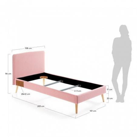 BELLA 90 posteľ ružová