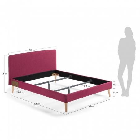 BELLA 150 posteľ červená