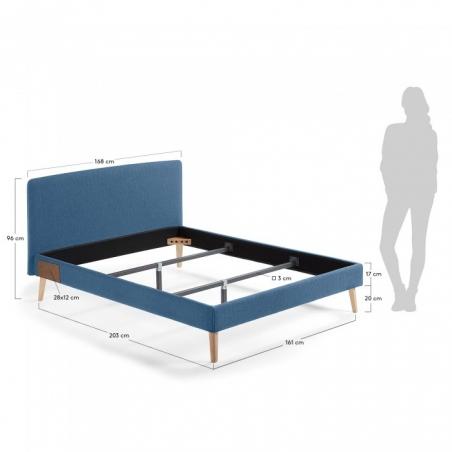 BELLA 150 posteľ tmavomodrá