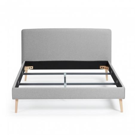 BELLA 150 posteľ svetlosivá