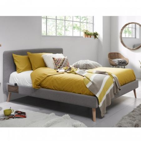 BELLA 160 posteľ svetlosiva