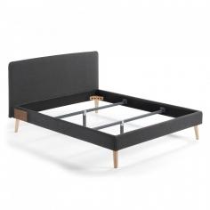 BELLA 160x200 posteľ tmavosivá