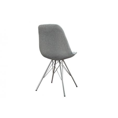 SCANDI čalúnená chróm stolička