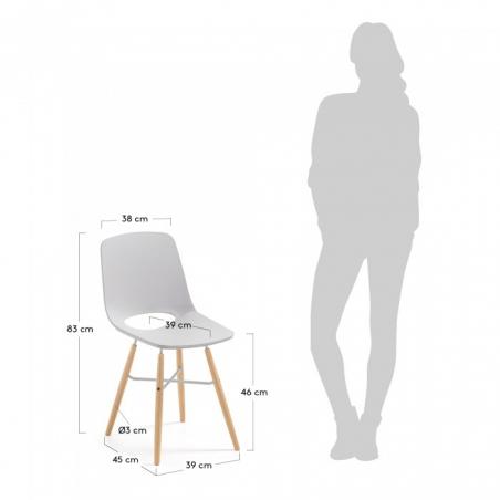 KETY stolička svetlosivá