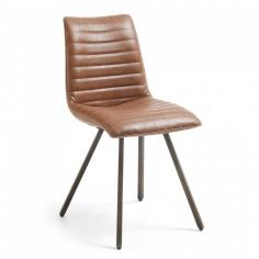 TRAP stolička kožená hnedá