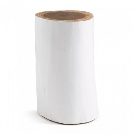 POLENO taburet biely