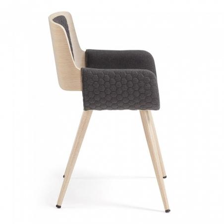 ANDREAS stolička tmavosivá