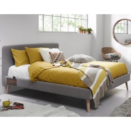BELLA 90 posteľ svetlosivá