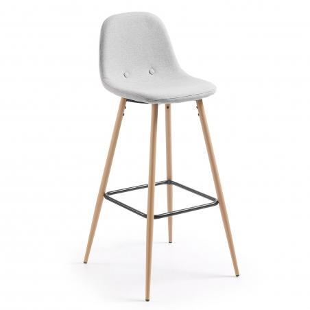 DONA barová stolička svetlosivá