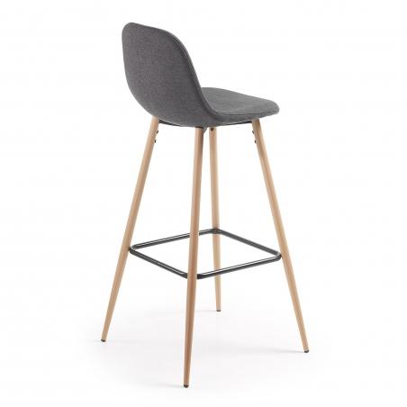 DONA barová stolička tmavosivá